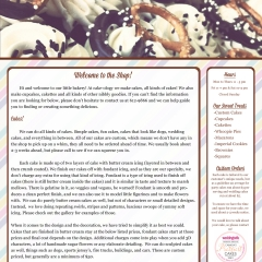 Cakeology Website / Layout Design